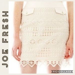 Joe Fresh • Blue Crochet Pencil Skirt • 10